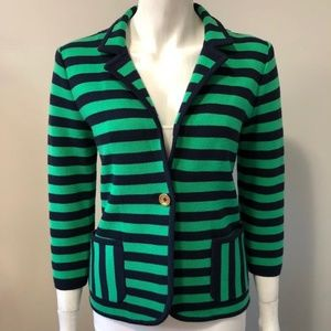 Juicy Couture Navy & Green Stripe Jacket